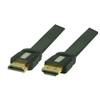 High Speed HDMI Flachkabel Ultra HD, 4Kx2K, Full HD, 3D, ARC, CEC mit HDMI Lock-System