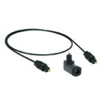 Optisches Toslink Digital Audio Kabel SPDIF + Toslink-Winkelstecker # drehbar